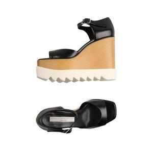Stella McCartney Ellyse Platform Wedge Shoes